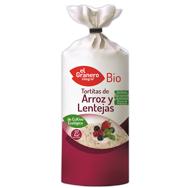 Rice pancakes and lentils bio - 115 g